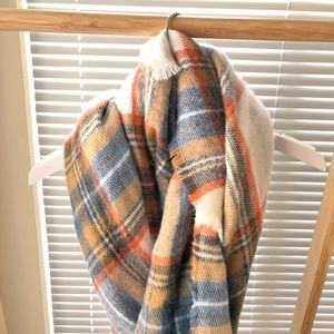 ASOS plaid blanket scarf